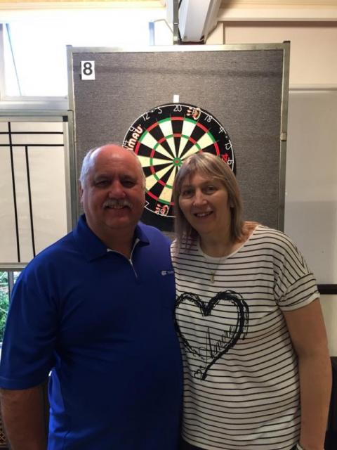 Mixed Pairs Winners Richard & Merryl Dennis