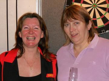 Merryl Dennis & Chrissie Kinnaird Devon Open Ladies Pairs Winners 2010